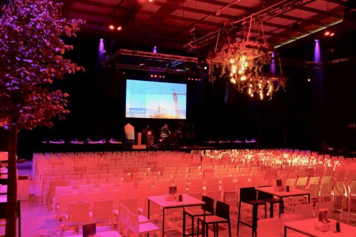 Factory wimec turnhout 1000 mensen receptie themafeest personeelsfeest receptieruimte hybrid meetings studio tv online meeting breda tilburg eindhoven weert maastricht11